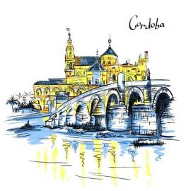 68868356-vector-color-great-mosque-mezquita--catedral-de-cordoba-and-roman-bridge-across-guadalquivir-river-c